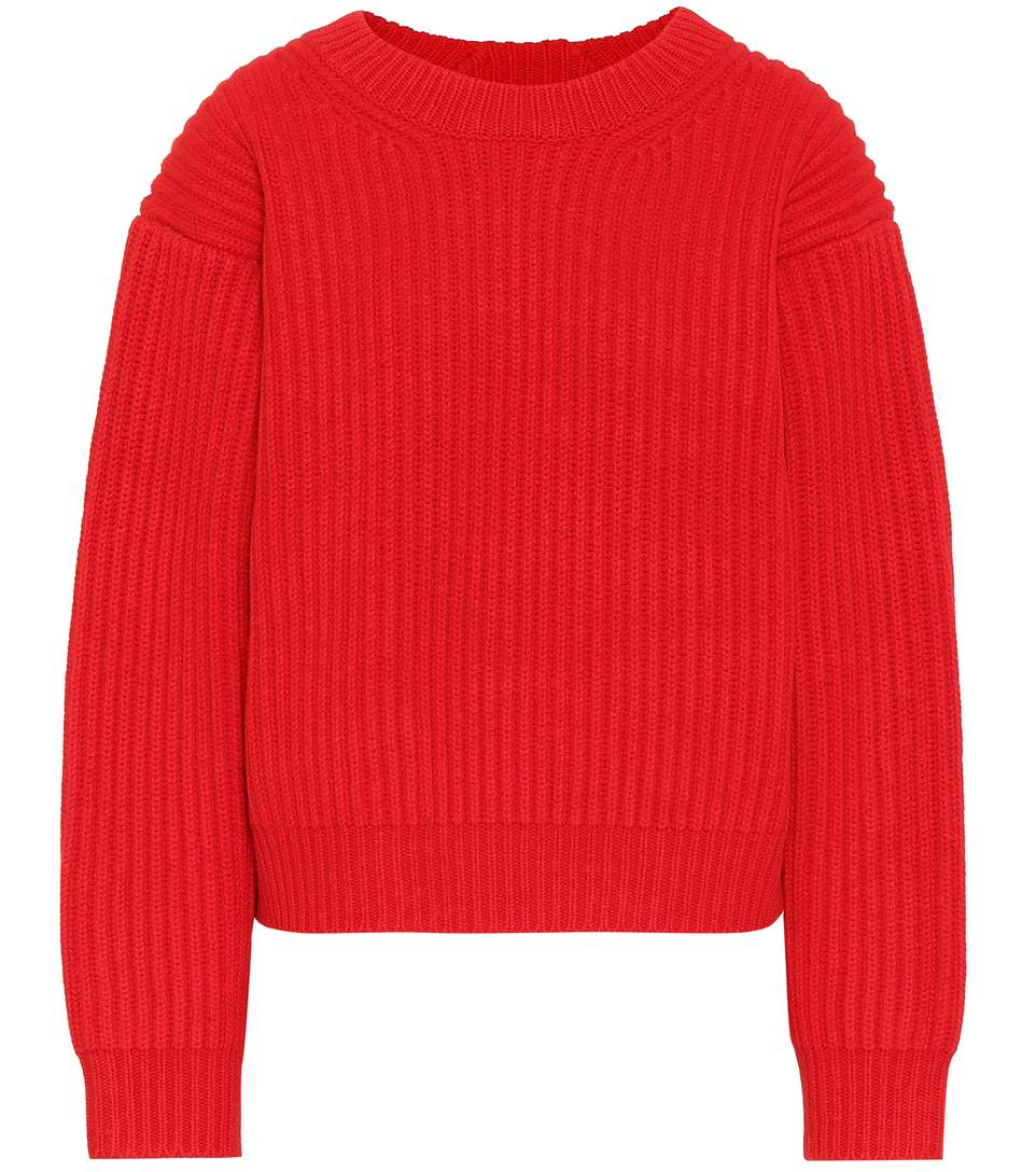 Image of   ACNE JEANS Lx4 Symm Penina Knit, Red