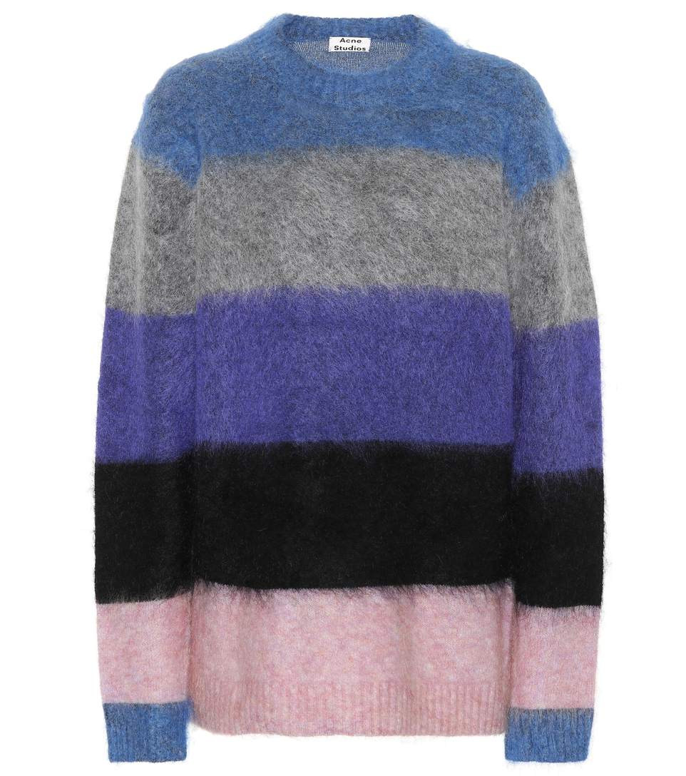 Image of   ACNE JEANS Albah Mohair Pullover, Multi Mix Stripe