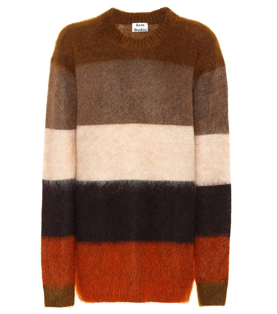 Image of   ACNE JEANS Albah Mohair Pullover, Orange/multi