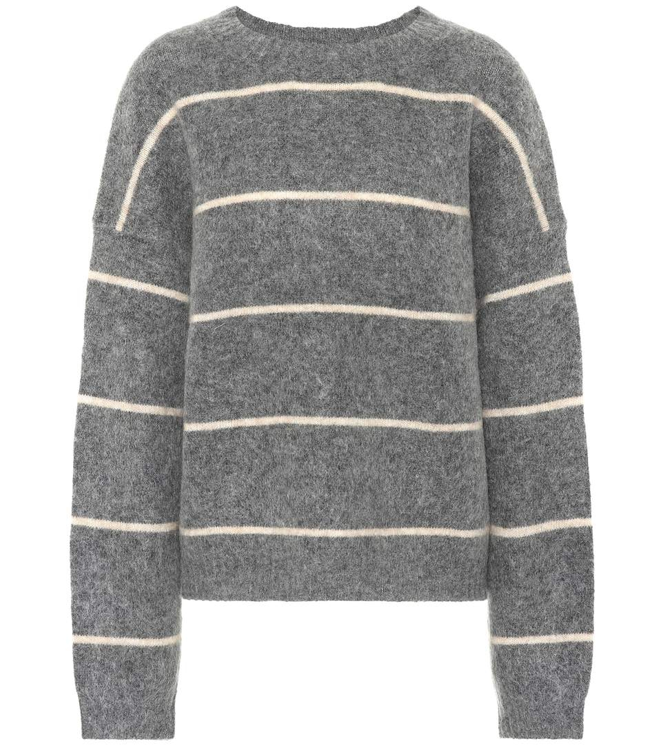 Image of   ACNE JEANS Rhira Mohair Knit, Grey/beige