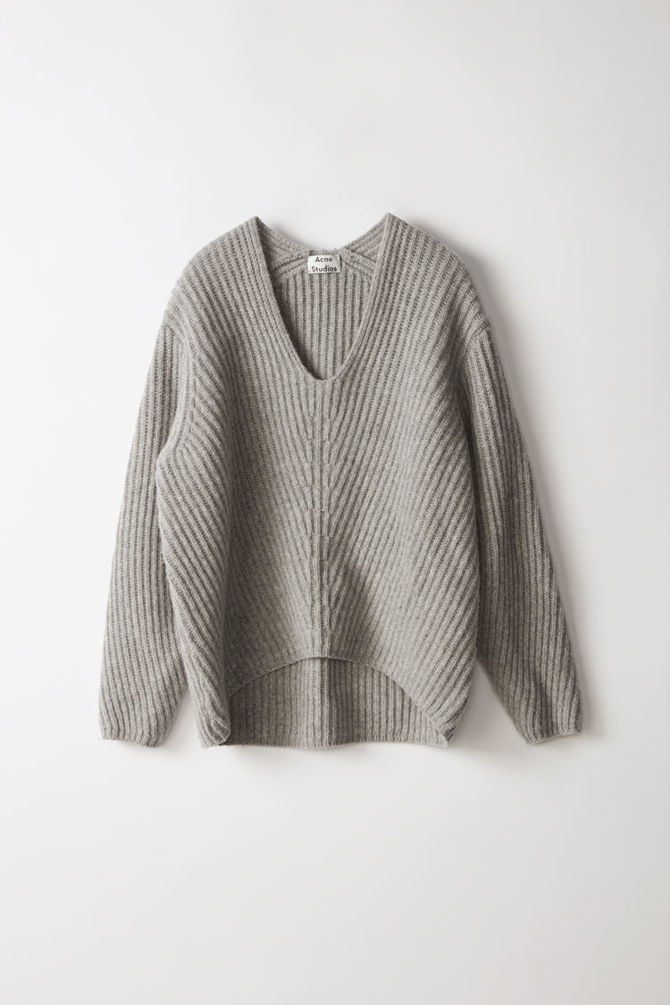 Image of   Acne Studios Deborah Knit, Pale Grey Melange