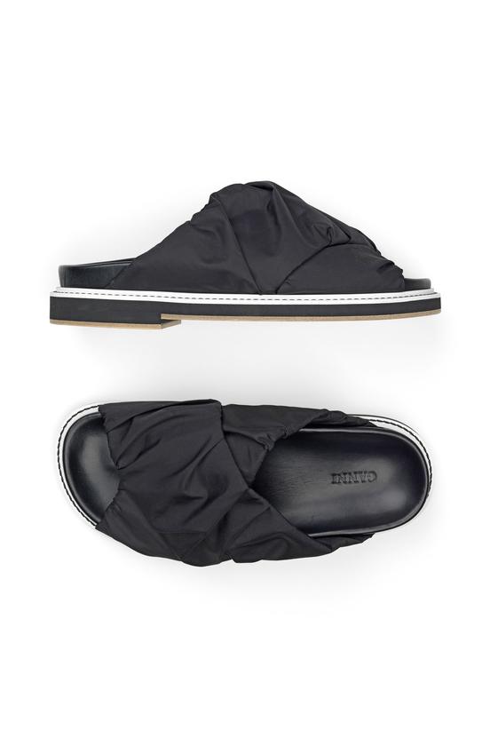 Ganni S0867 Sandal Fabric Wrap, 099 Black