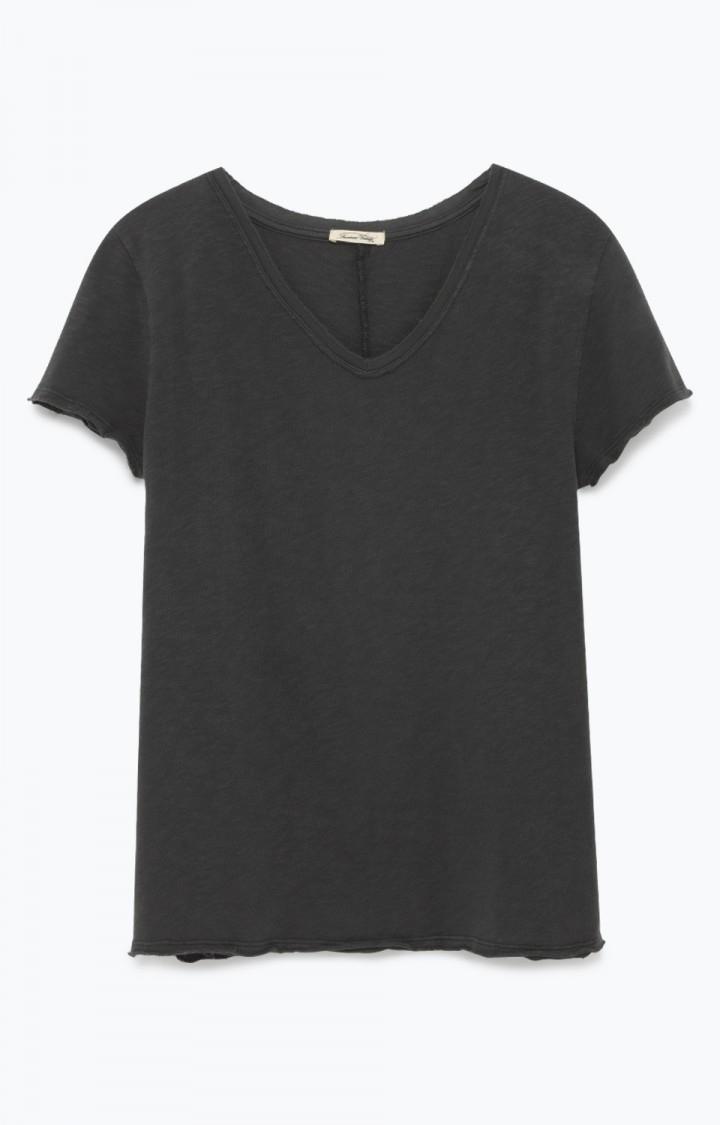 Billede af American Vintage T-Shirt Med V-Hals, Son32B Vintage Black
