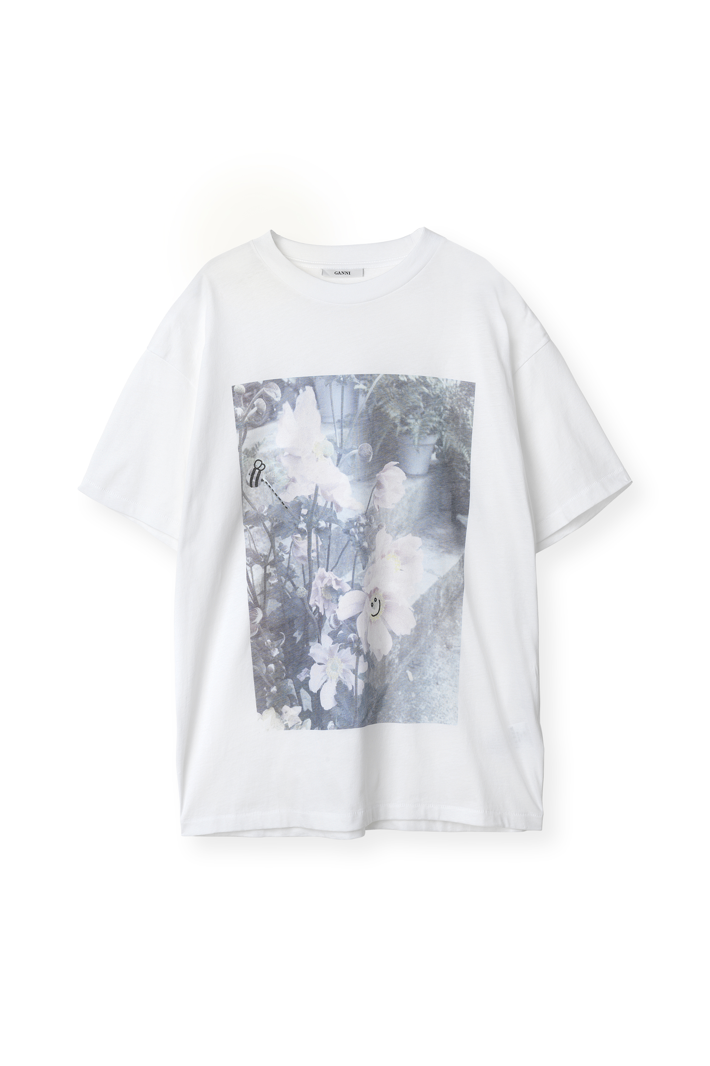 Ganni Davis T-shirt Bright White, t2099