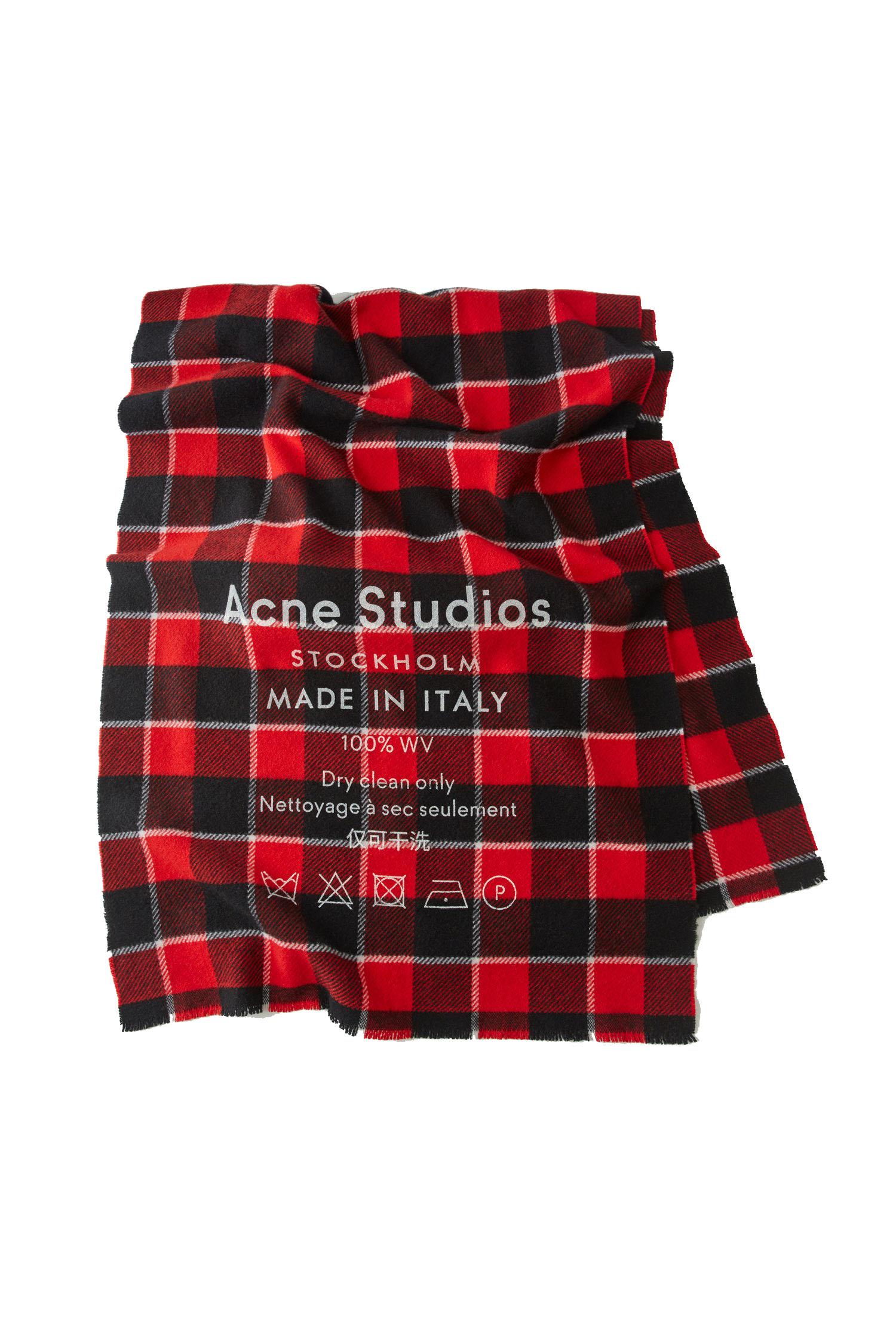 Image of   ACNE STUDIOS Acne Studios Tørklæde Cassiar Check Red/black