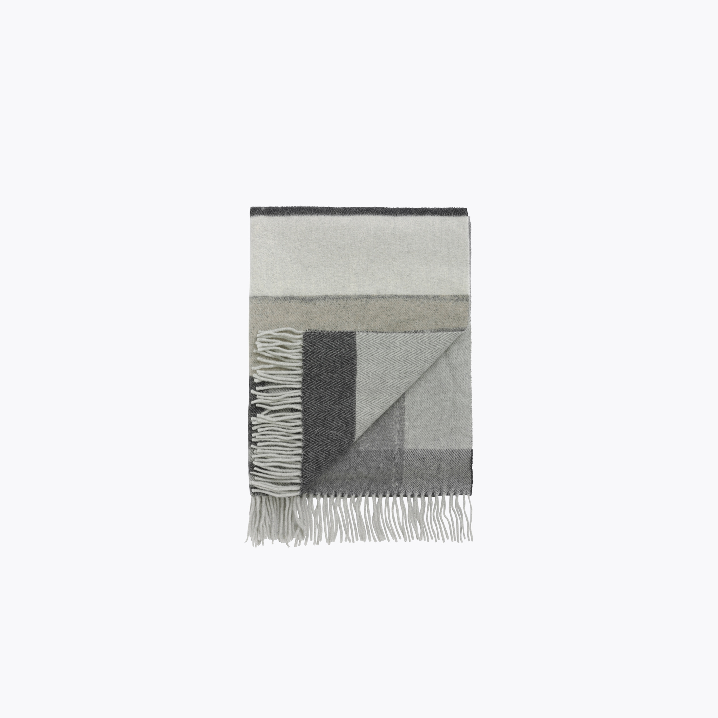 Image of   Holzweiler HOLZWEILER TABLEAU L SCARF, COMPLICATED BLACK/WHITE