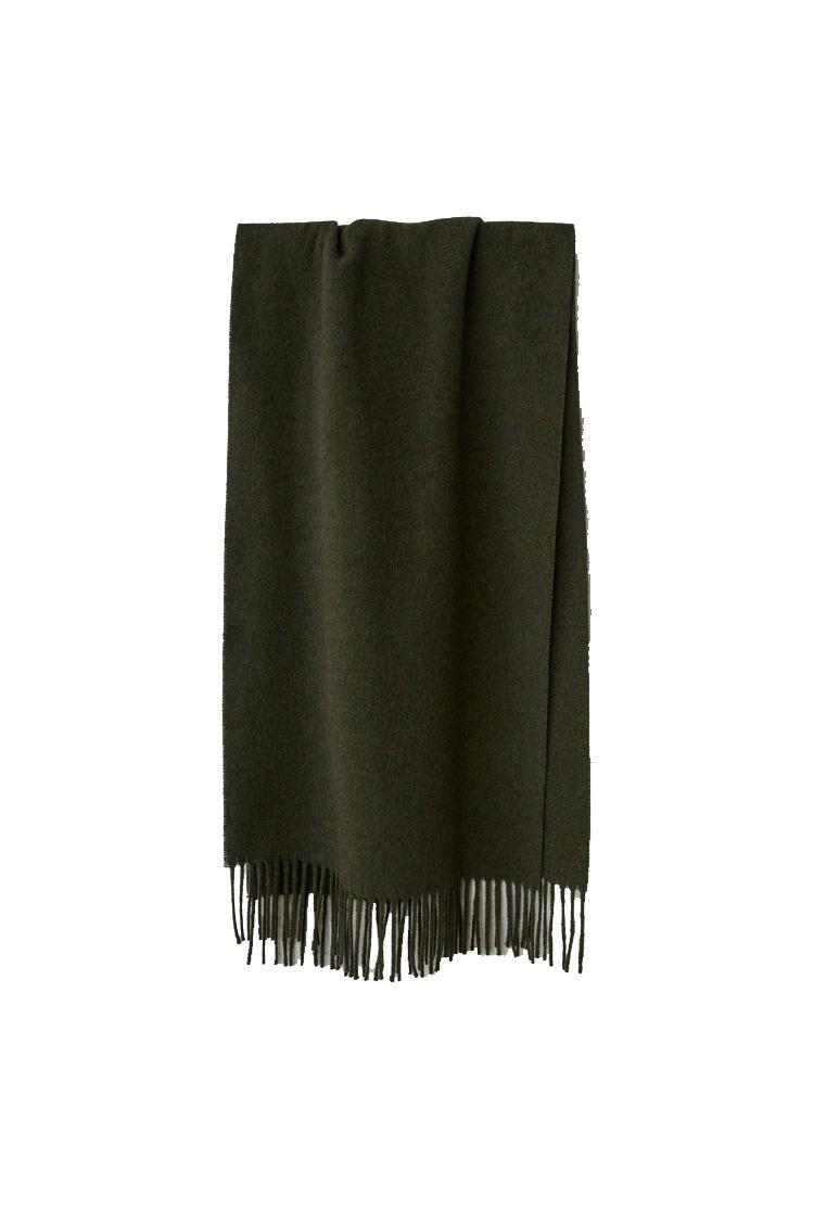 Image of ACNE STUDIOS Canada Scarf Wool, Khaki Melange