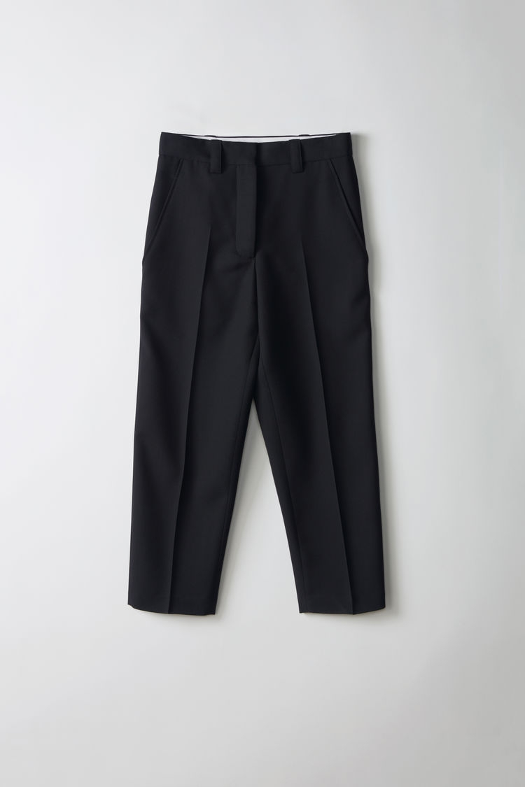 Image of   Acne Studios Trea Structured Wool Trousers, black