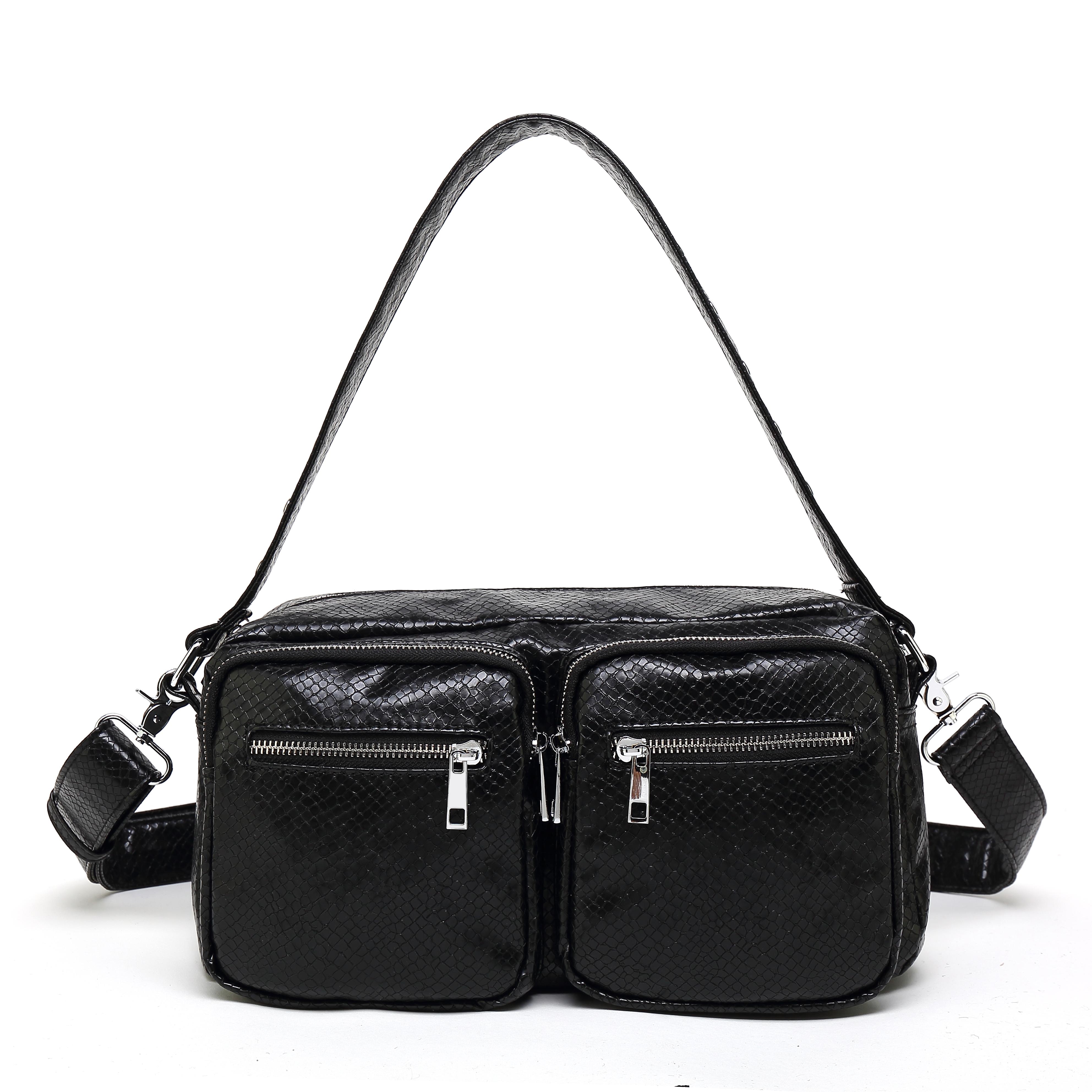Image of   Noella Caja Crossover Bag, Black Snake