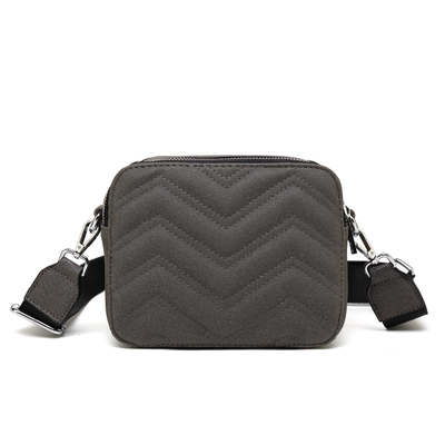 Image of   Noella Zig Zag Bag, Glitter Black