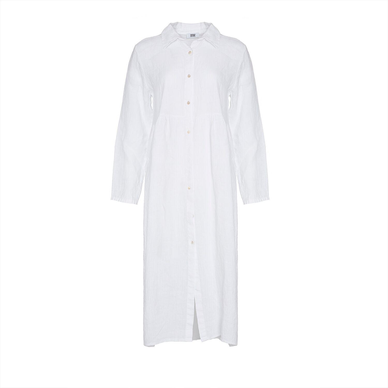 Image of   Tiffany 181168 Linen Dress, White